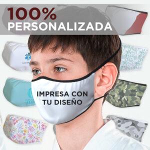 MASCARILLA INFANTIL ( 10-12 AÑOS )  PERSONALIZADA
