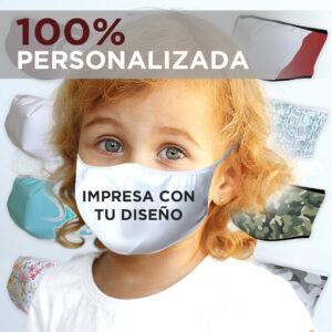 MASCARILLA INFANTIL ( 3-5 AÑOS )  PERSONALIZADA