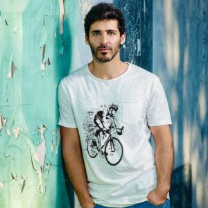 camiseta blanca sublimada hombre