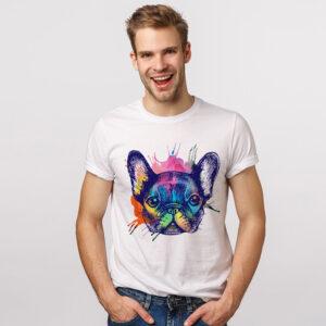 camiseta hombre blanca sublimada