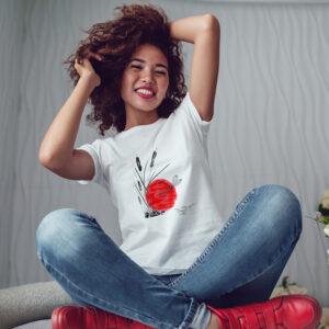 camiseta blanca sublimada con diseño