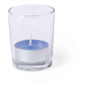 Vela Aromática Envase Cristal Alim Publicidad 126485 - azul