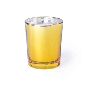 Vela Aromática Tarrito Cristal Color Alim Publicidad 125828 - dorado