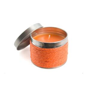 Vela Aromática con Envase Metálico Alim Publicidad 129718 - naranja