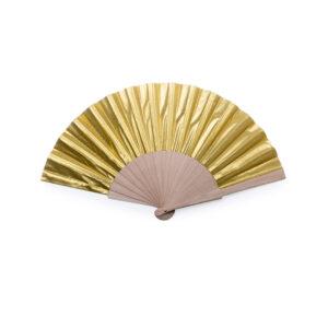 125989 Abanico Madera Poliester Alim Publicidad 125989 - dorado