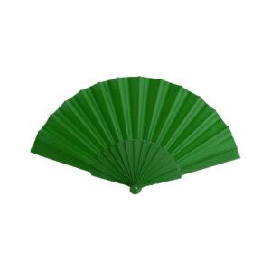 128096 Abanico Color Plastico Poliester Alim Publicidad 128096 - verde