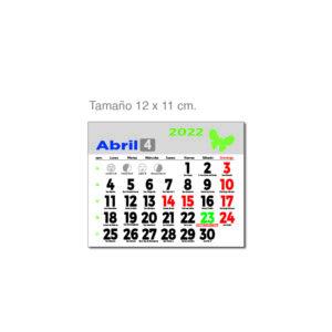 Faldilla mensual castellano Alim Publicidad - F12