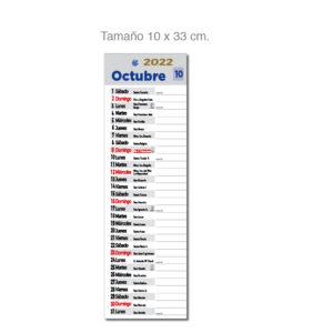 Faldilla mensual notas castellano Alim Publicidad - F16