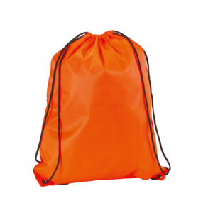Mochila de Cuerdas Suave Poliéster Alim Publicidad 124394 - naranja