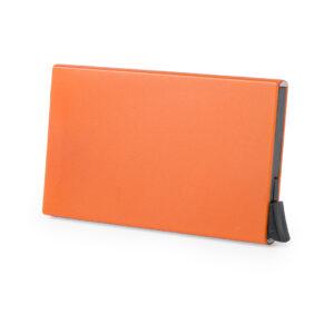 Tarjetero Seguridad RFID Desliza Extrae Alim Publicidad 126173 - naranja